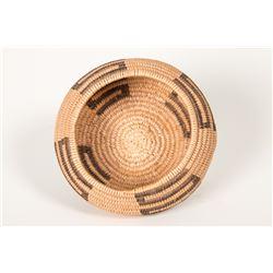 """Havasupai Coiled Basket 2"""" x 3 ¾"""". Finely woven. Circa 1940."""