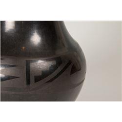 """San Ildefonso Pueblo Jar by Tonita and Juan Roybal, 8"""" x 7"""""""