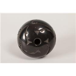 "Santa Clara Pueblo Seed Jar by Linda Tafoya, 4 ½"" x 4 ½"""