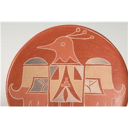 """Santa Clara Pueblo Plate by Mollie Naranjo, 9 ¾"""""""