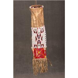 "Sioux Beaded Pipebag, 33"" long"