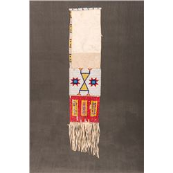 """Sioux Beaded and Quilled Pipebag, 18 ½"""" long"""