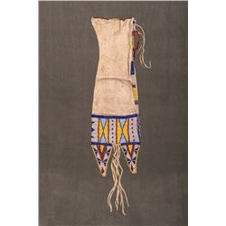"""Sioux Beaded Tab-Style Pipebag, 19"""""""
