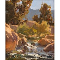 Bill Anton, oil on canvasboard