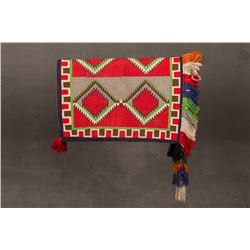 "Navajo Sunday Saddle Blanket, 33 ½"" x 24"""