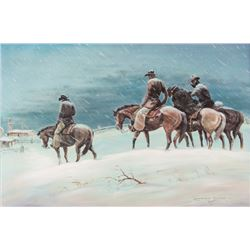 Laurence Coffelt, oil on canvasboard