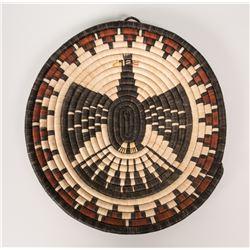 "Hopi Basketry Plaque by Velma Wadsworth, 14 ½"" diameter"