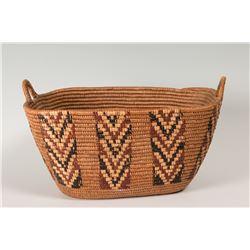 "Salish Basket, 7 ½"" x 13"""