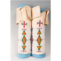 "Sioux Beaded Woman's Leggings, 15"" tall"