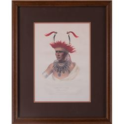 """Set of Two Antique Chief Prints , 14"""" x 10""""."""