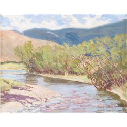 Hollis Williford, oil on canvasboard