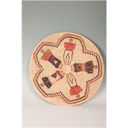 "Navajo Basketry Tray, 24"" diameter"