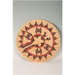 "Navajo Basketry Tray, 19"" diameter"