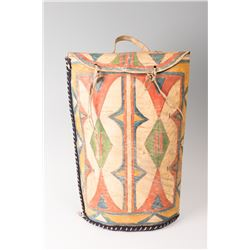 """Sioux Painted Parfleche Meat Storage Container, 20"""" long"""