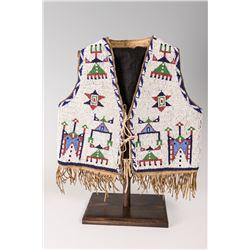 "Sioux Beaded Child's Vest, 12"" long x 13"""