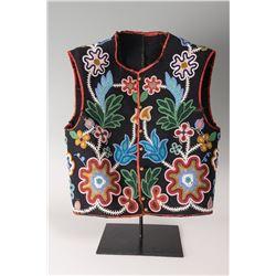 """Chippewa Fully Beaded Man's Vest, 20"""" x 18"""""""