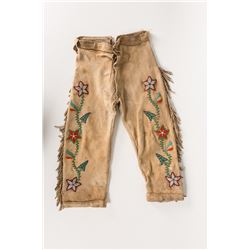 """Northern Plains Beaded Toddlers Trousers, 25"""" long"""