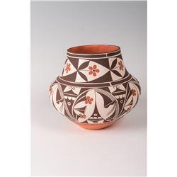 """Acoma Pueblo Pot by Barbara and Joseph Cerno, 8"""" x 9 ½"""""""