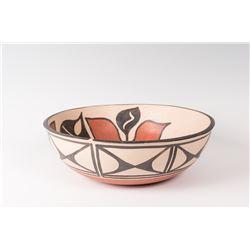 Two Santo Domingo Pueblo Bowls by Paulita Pacheco
