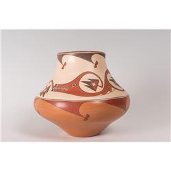 """Santa Clara Pueblo Jar by Lois Gutierrez de la Cruz, 7 ½"""" x 9"""""""