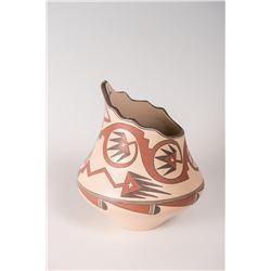 """Santa Clara Pueblo Jar by Lois Gutierrez de la Cruz, 7 ½"""" x 7"""""""
