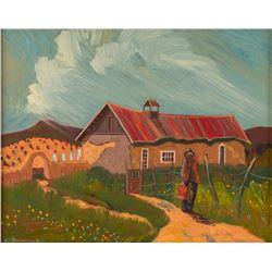 Ed Sandoval, oil on canvas