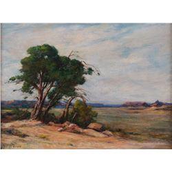 Albert Lorey Groll, oil on board