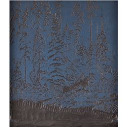 Gustave Baumann, cancelled woodblock
