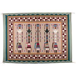 "Navajo Weaving, 6'1"" x 4'5"""