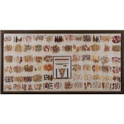 """Navajo Weaving Dye Chart, 36"""" x 72"""""""