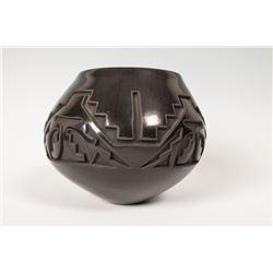 """Santa Clara Pueblo Pot by Teresa Gutierrez, 5 ?"""" x 7 ½"""""""