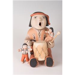 "Cochiti Pueblo Storyteller Dolls by Ada Cordero Suina, 9"" x 6"" x 8"""