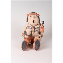 "Cochiti Pueblo Storyteller Dolls by Ada Cordero Suina, 8"" x 6"" x 7"""