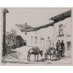 B. J. O. Nordfeldt, etching