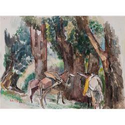 Jozef Bakos, watercolor