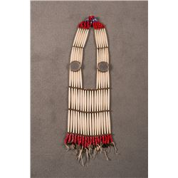 """Sioux Child's Bone Breast Plate, 26"""" long x 7 ¾"""" wide"""