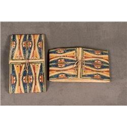"""Pair of Sioux Painted Parfleche Envelopes, 14"""" x 25"""" x 3"""""""