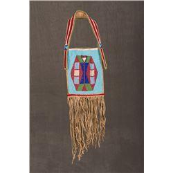 """Nez Perce Fully Beaded Mirror Bag, 19"""" long"""