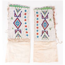 "Northern Plains Beaded Woman's Leggings, 20"" x 8"""