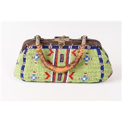 """Sioux Fully Beaded Doctor's Bag, 5"""" x 11"""""""
