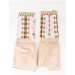 "Northern Plains Woman's Beaded Leggings, 20 ½"" x 6 ½"""