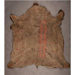 "Lakota Sioux Buffalo Robe, 6'3½"" x 6'6"""