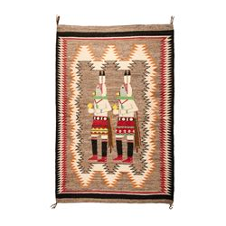 "Navajo Weaving, 4'7"" x 3'2"""