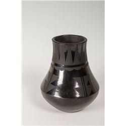 """San Ildefonso Pueblo Jar by Anna Montoya, 7 ½"""" x 6"""""""