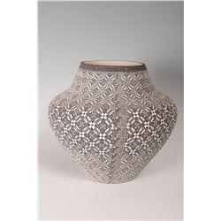 "Acoma Pueblo Pot by Nathaniel Vallo, 13"" x 14"""