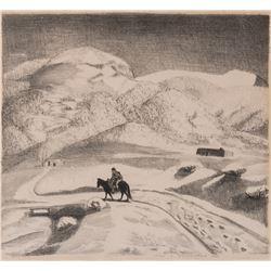 Helen Blumenschein, lithograph