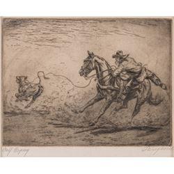 Olaf Wieghorst, etching