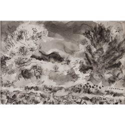 John Ward Lockwood, pen and ink wash