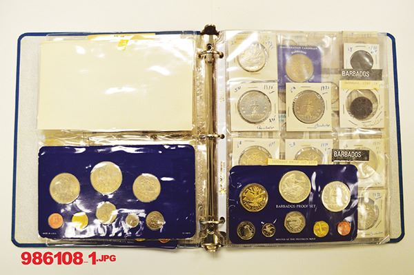 Barbados Proof sets and singles  1970s
