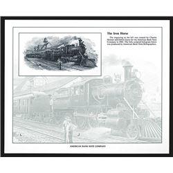 Souvenir Card. Hologram with steam train. 1993.